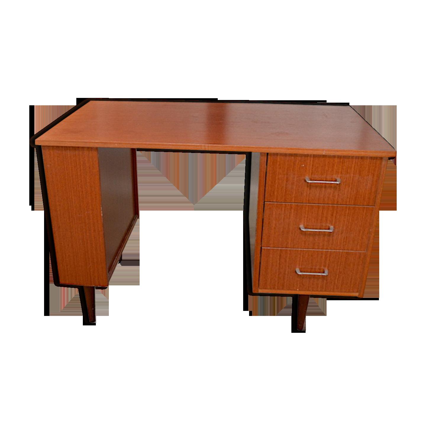Bureau kevin design vintage rétro année bois matériau