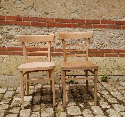 Paire de chaises vintage rénovée