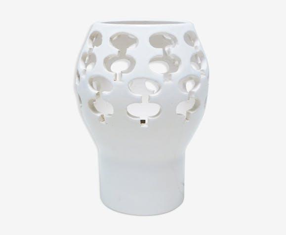 Lampe en céramique ajourée années 70