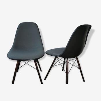 1 chaise dsw tissu gris fibre eames herman miller