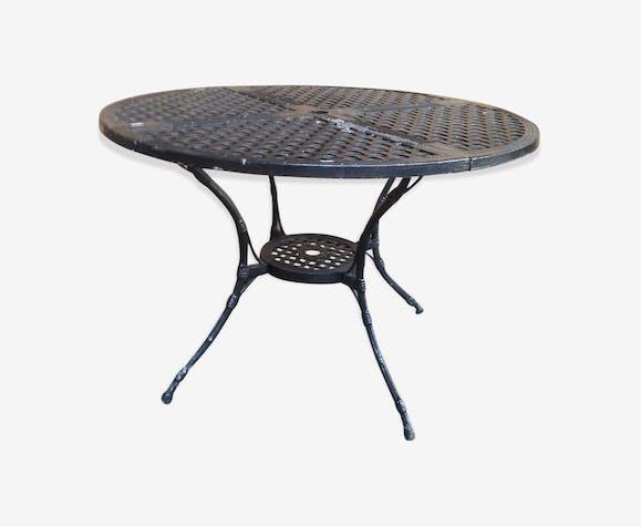 Table de jardin en fonte d\'aluminium - fer - noir ...