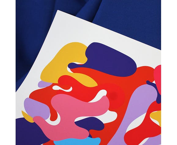 """Illustration """"dans la lagune - violette"""""""