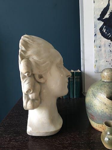 Buste en plâtre, 33 cm