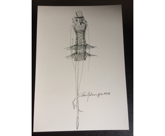 "Paco Rabanne, fashion illustration ""winter collection 1997 -1998"""