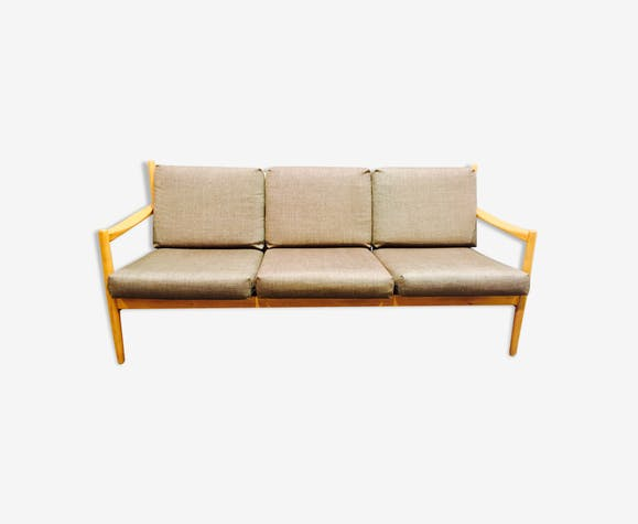 Canapé 3 places design scandinave 1960