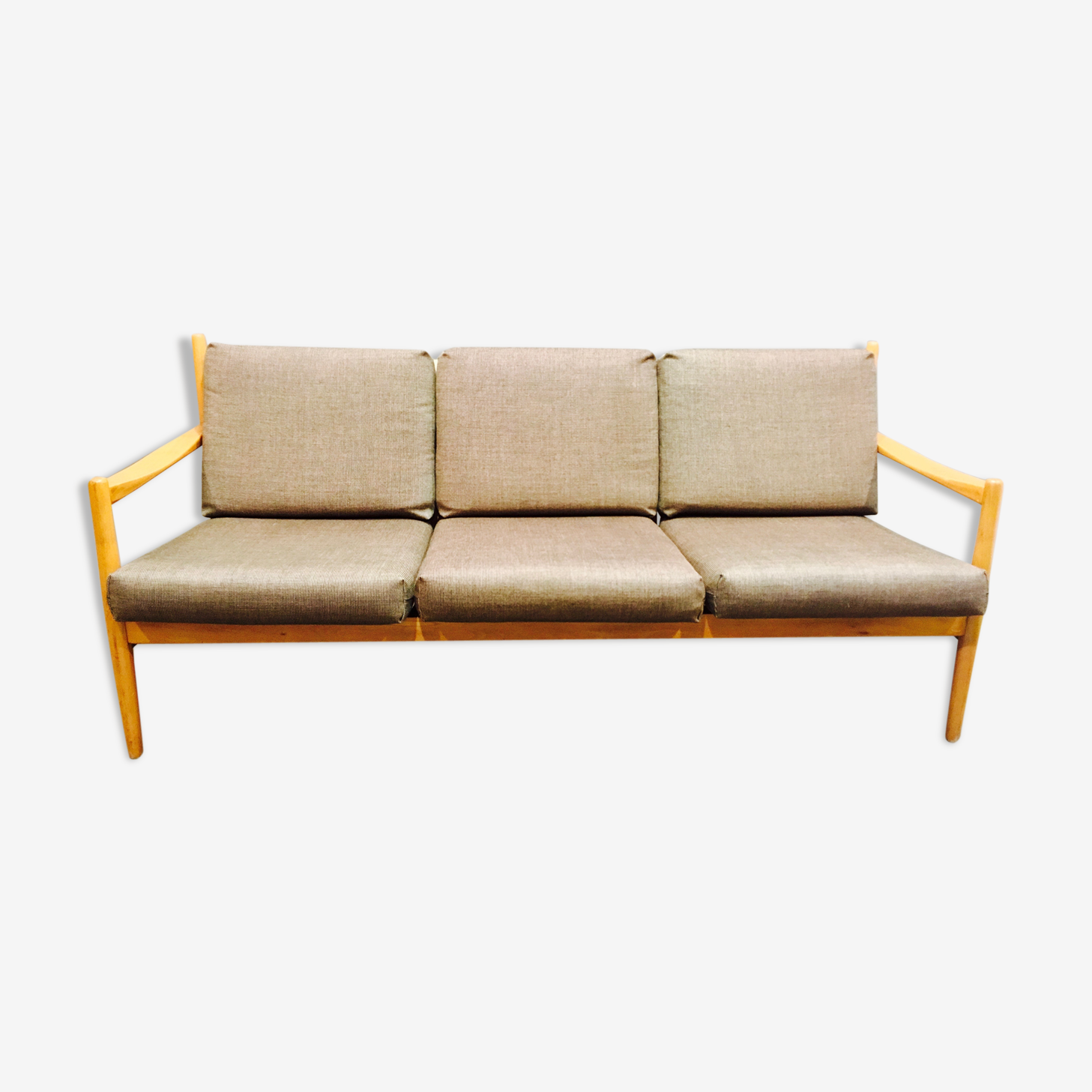 "Sofa 3 places ""Scandinavian design"" 1960."