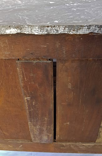 Commode à ressaut époque Transition marqueterie - XVIIIème siècle