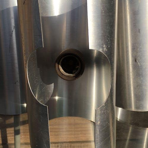 Suspension 1970 aluminium 4 lumières