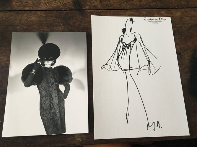 Christian Dior fashion illustration - press photography, collection 1988- 1989