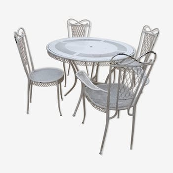 In 1940-1950 years wrought iron garden furniture
