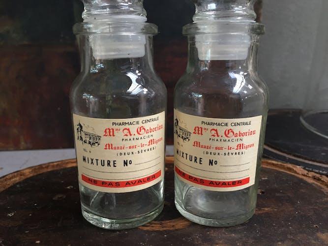 """Pair of bottles """"mixture"""""""