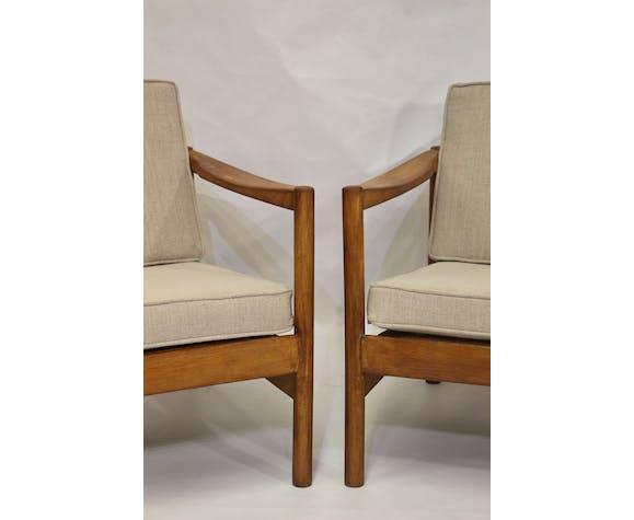 Paire de fauteuils style scandinave années 60
