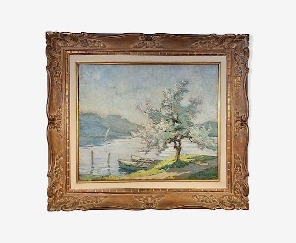 Tableau de L.R. Lacroix (1891-1977) école française huile sur bois