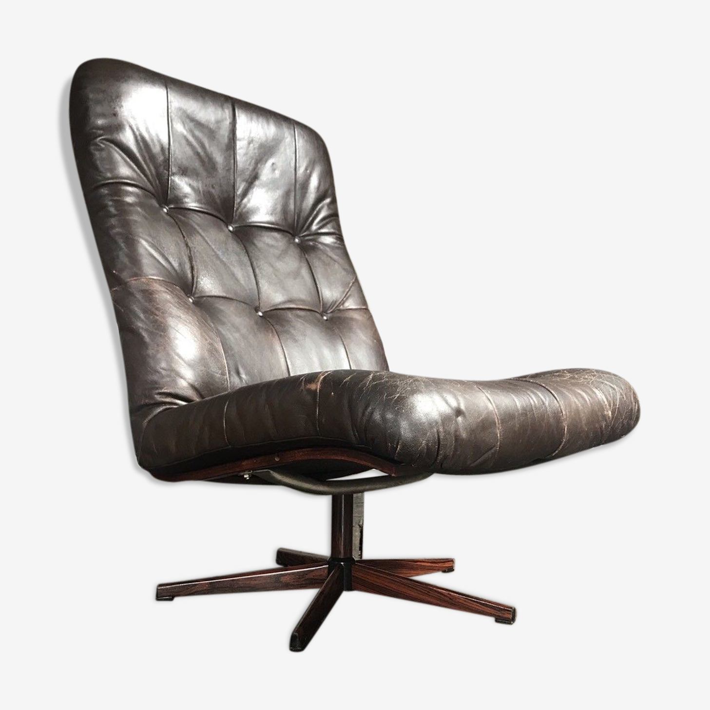 The mid century leather chair