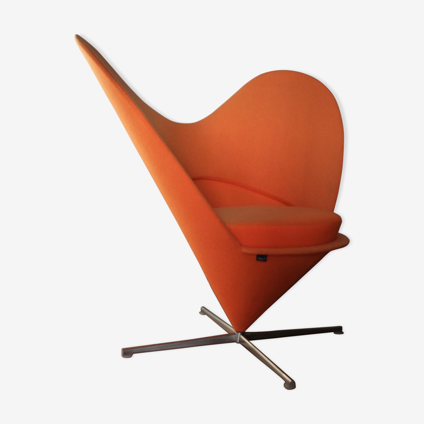 Fauteuil Heart Cone Chair par Verner Panton pour Vitra