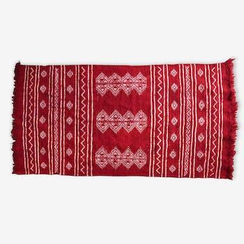 Carpet Berber kilim red, 100 x 60