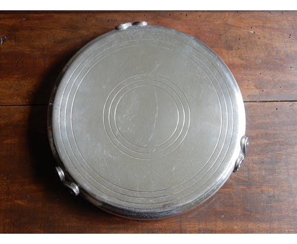 Dessous de plat en métal argenté, France