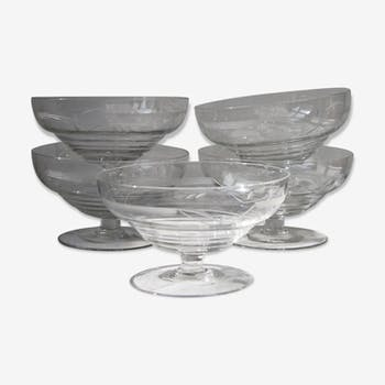 Carved glass cups