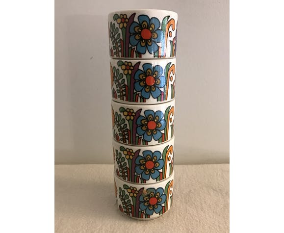 5 eggcups Acapulco Villeroy and Boch