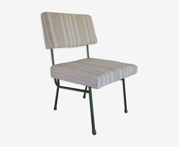 """Chaise vintage relookée """"matelas"""""""