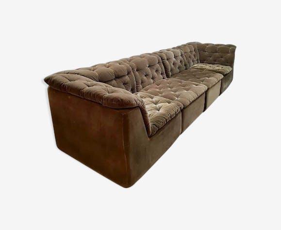 Canapé modulaire en velours par Laauser