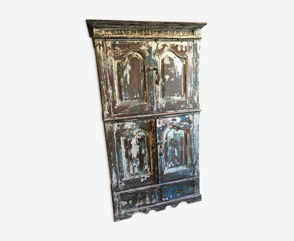 Weathered wooden cabinet