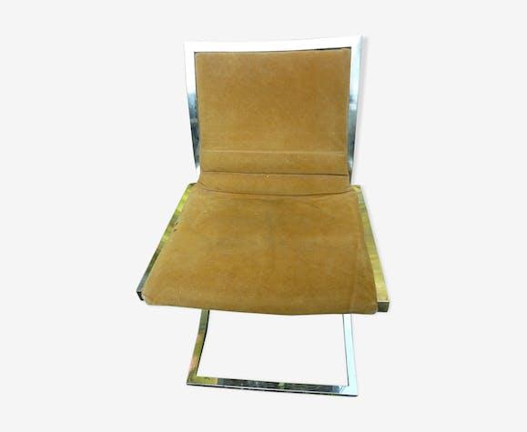 Chaise de bureau cuir et métal