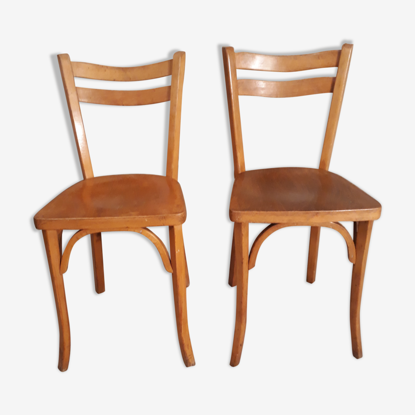 Chaises bistrot 1960 Baumann hêtre clair n°19
