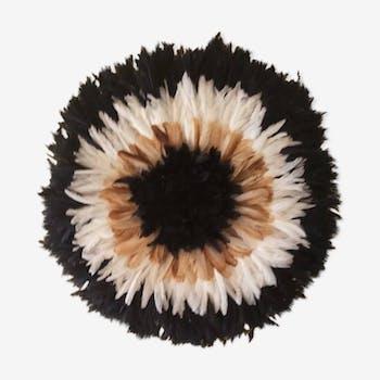 Juju hat intérieur noir contour beige puis blanc puis noir de 80 cm