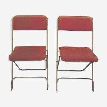 Camping lafuma chairs pair