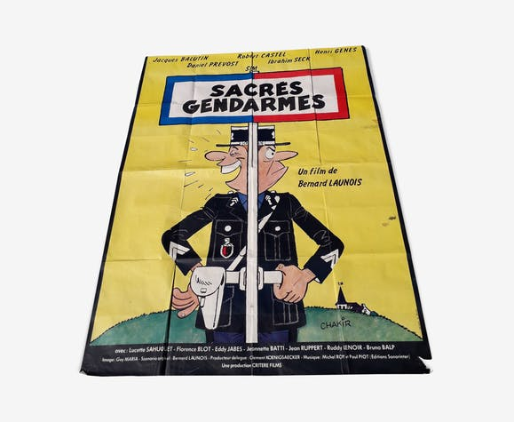 Movie poster sacred gendarmes 1980