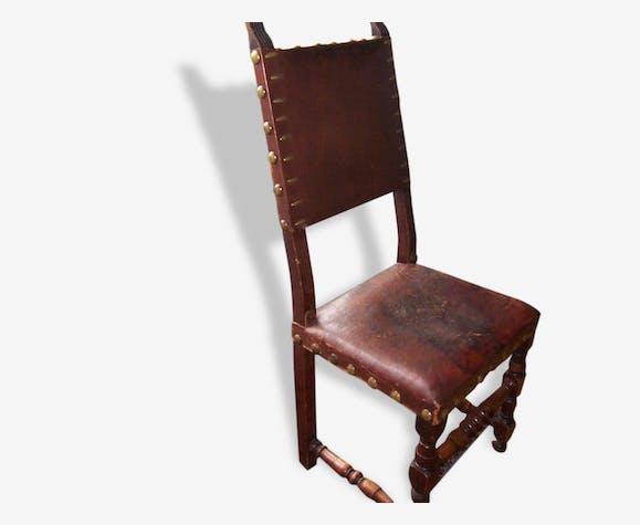 Chaise style Louis XIII - bois (Matériau) - bois (Couleur) - vintage on