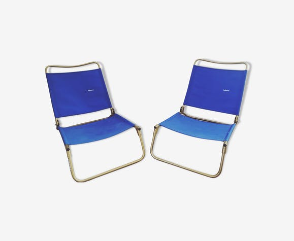 Paire de fauteuils bas Lafuma vintage