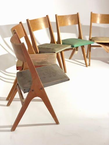 Suite de chaises René Jean Caillette