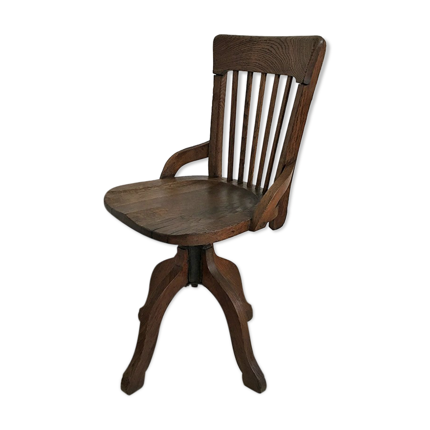 Fauteuil de bureau vintage s scholz bois matériau marron