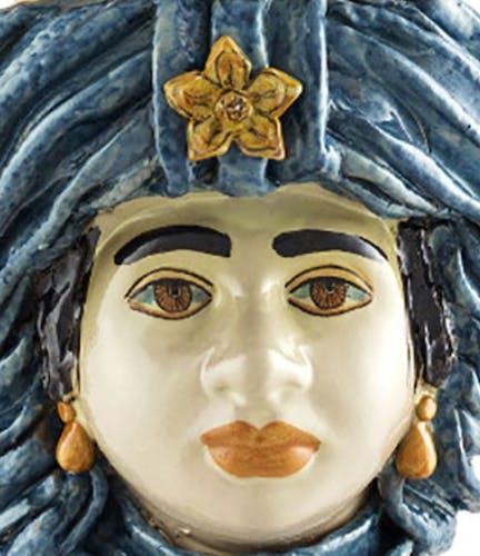 Vase turban bleu ciel femme