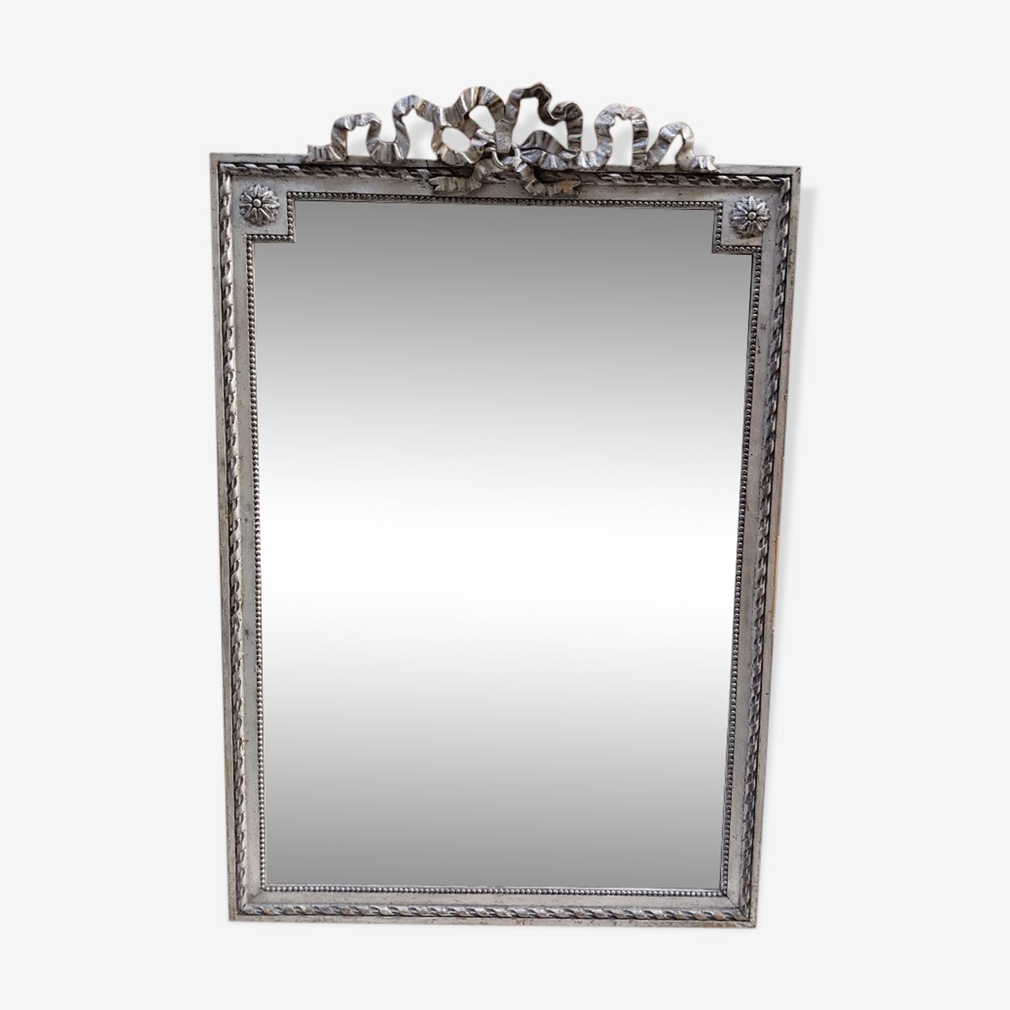 Miroir argente de style louis XVI 122cm x 80cm