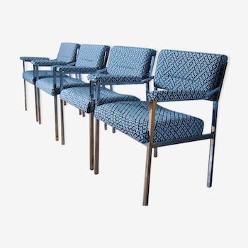 Suite de 4 fauteuils