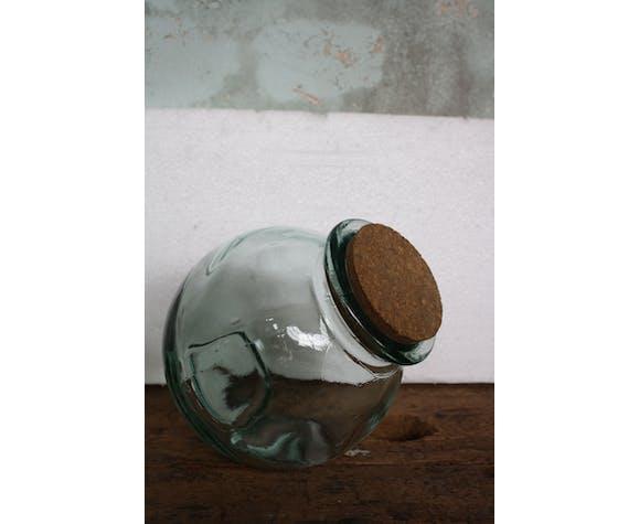 Bonbonnière en verre d'épicerie vintage