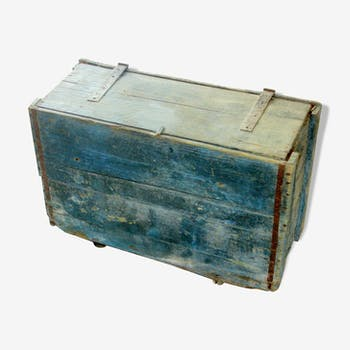 Rare ancienne malle caisse à outils d'artisan
