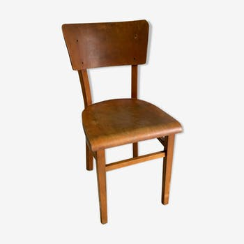Thonet bistro chair in curved wood - mid. 20th