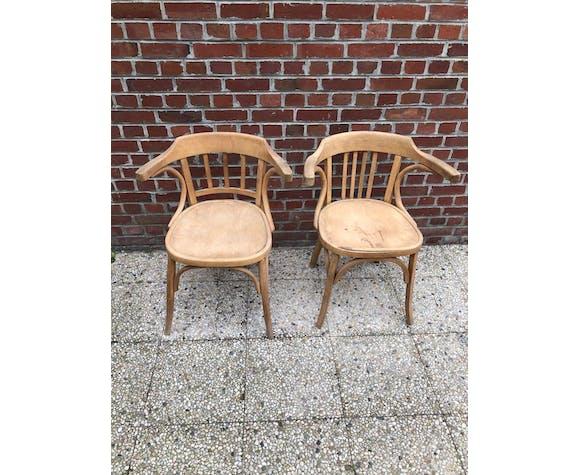 Paire de chaise  de bistrot Baumann