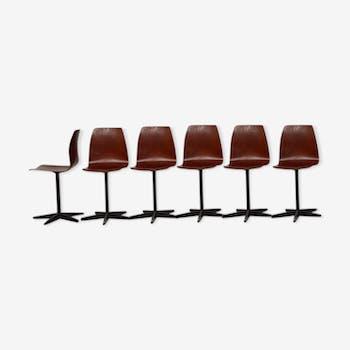Série de 6 chaises Pagholz Flötotto, 1970