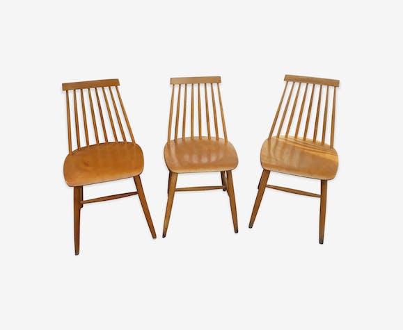 srie de 3 chaises scandinaves - Chaises Scandinaves Couleur