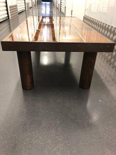 Table basse en céramique signée Roger Capron décor oiseau Vallauris 1960