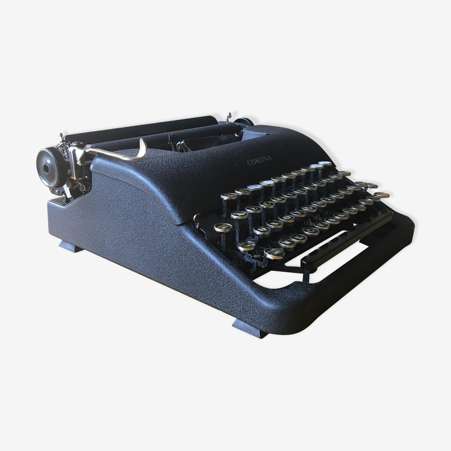 Machine à écrire Corona noire