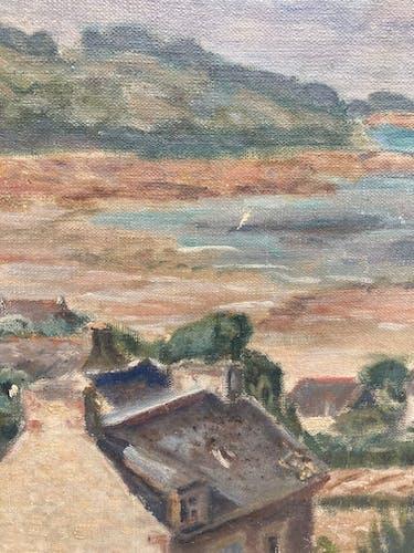 Peinture paysage breton en bord de mer