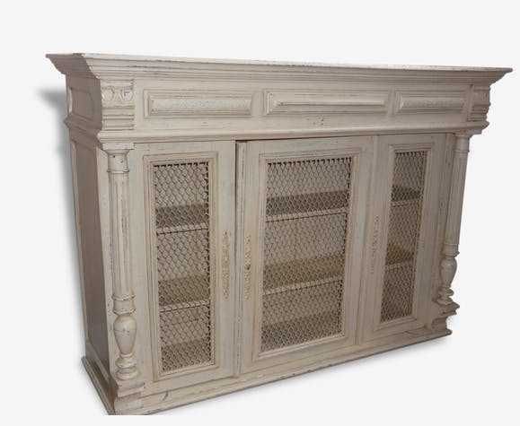 haut cuisine vitrine placard shabby chic bois. Black Bedroom Furniture Sets. Home Design Ideas