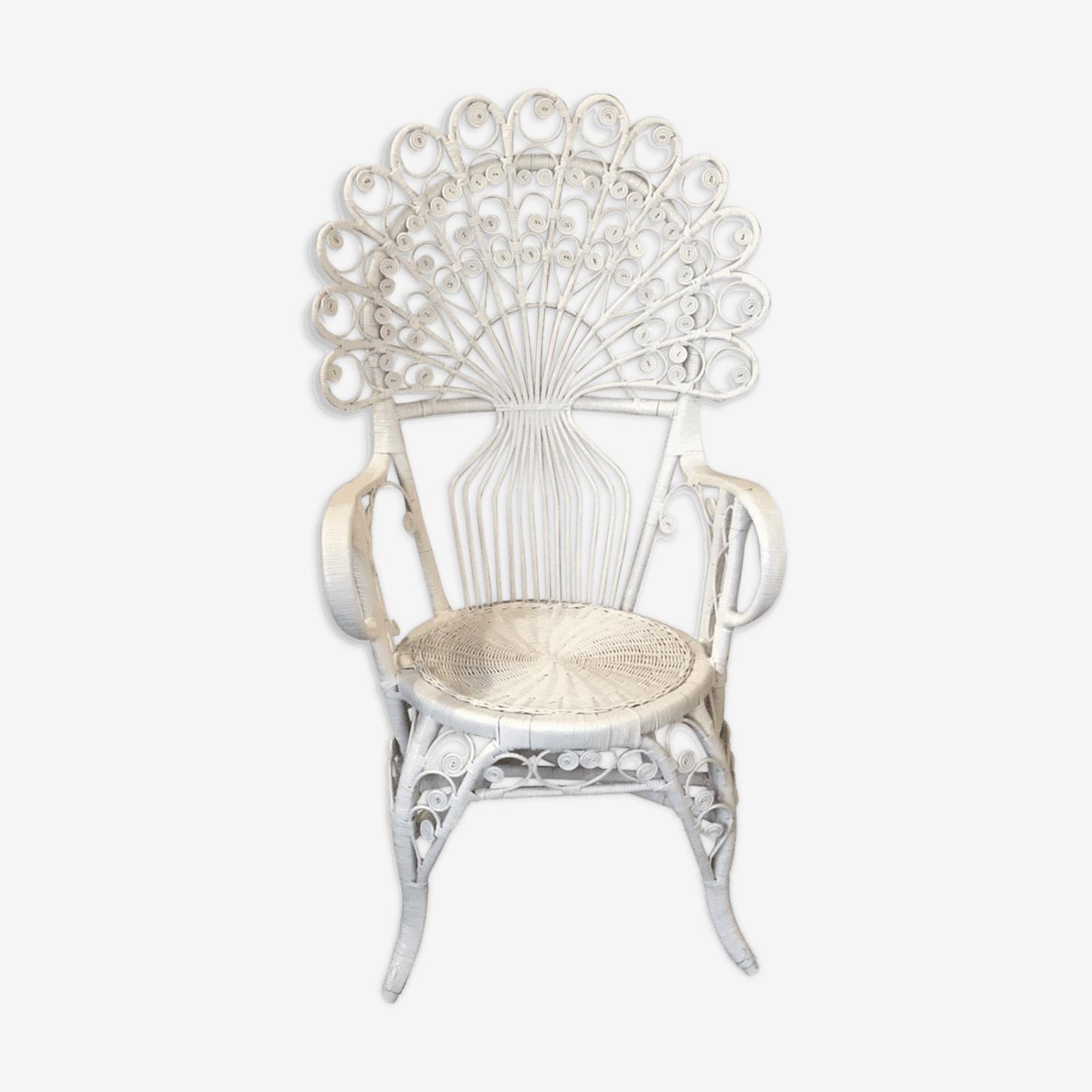Vintage peacock armchair