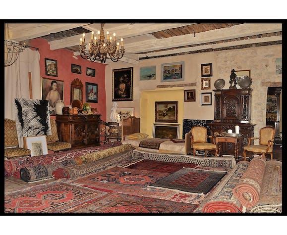 Persian Carpet Shiraz, Khamseh Nomad Tribes, 172x198cm - late 19th Century